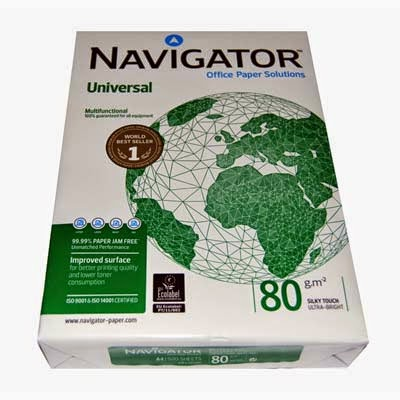 Pack 500 hojas papel navigator 80g A4 blanco