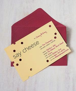Wine and cheese party planning tips invite