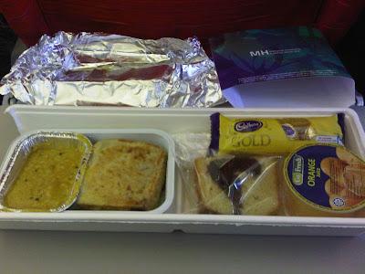 Menu Makanan Dalam Flight MAS KL ke Phuket