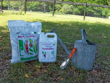 Organic worm castings for potting soil mix