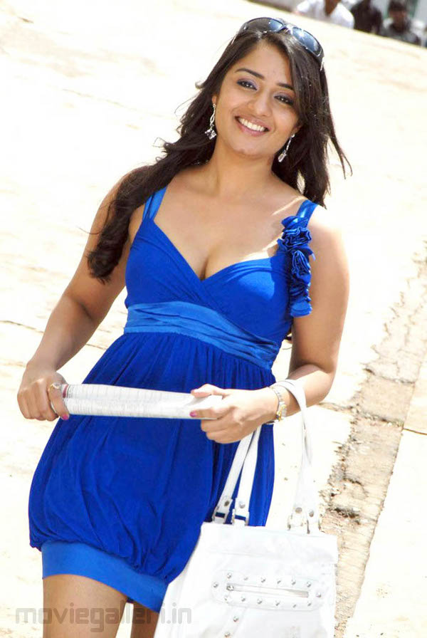 Nikita Thukral Latest Stills in Blue Dress