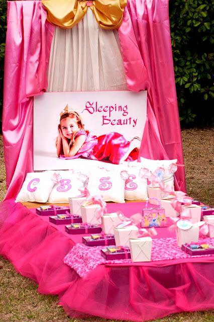 Sleeping Beauty Table Decorations