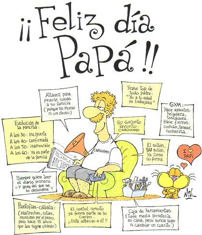Postales y tarjetas para papá en el Día del Padre.