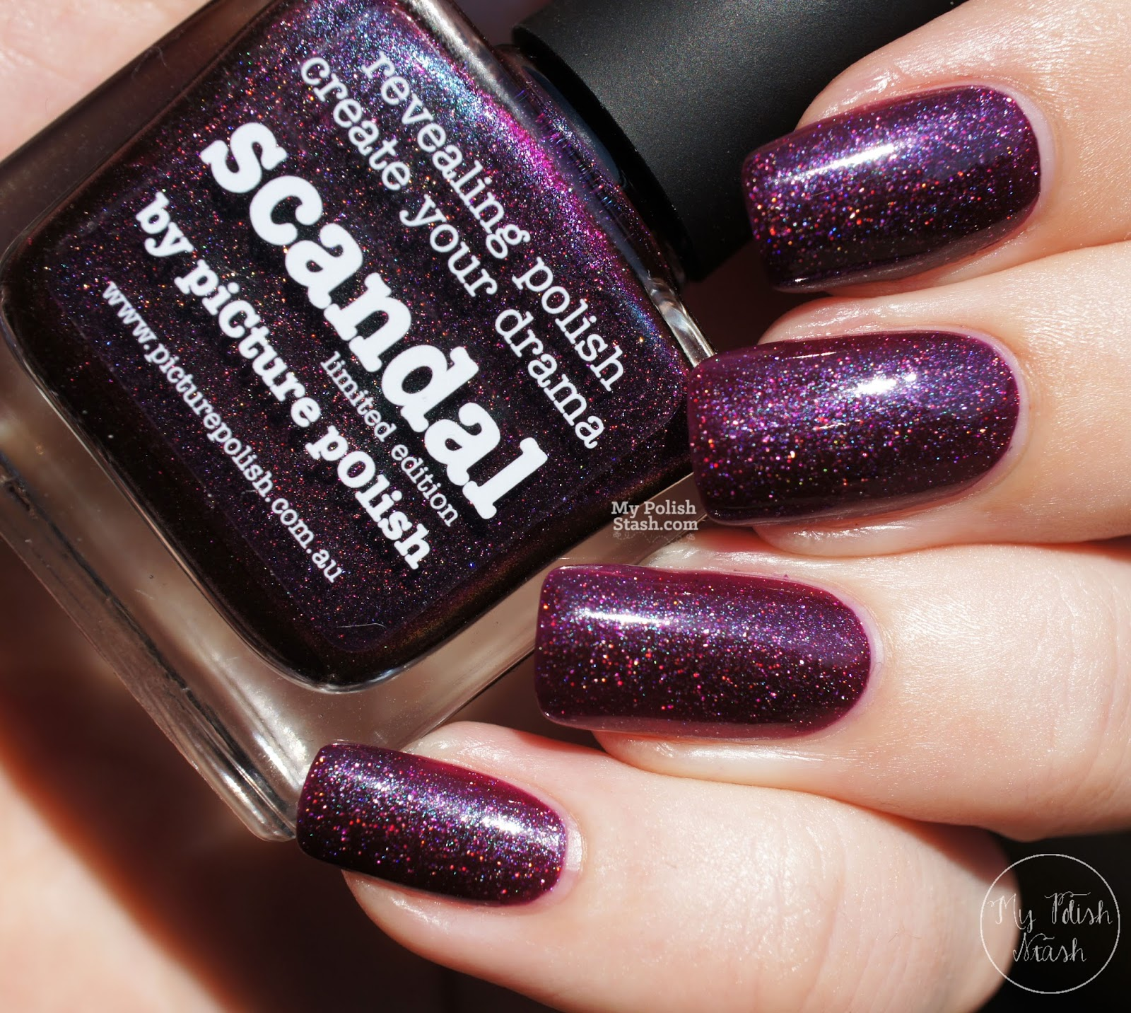 purple jelly shimmer nail polish