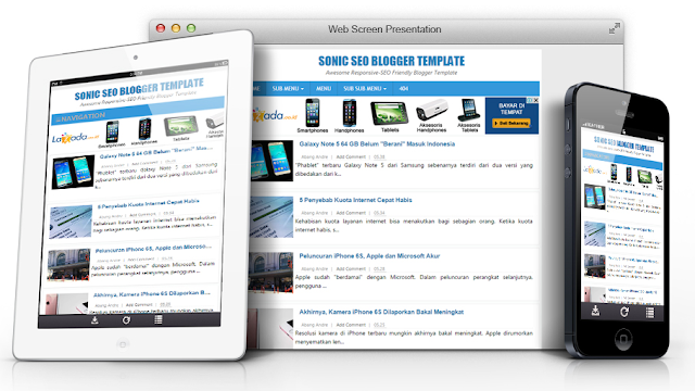 SONIC SEO RESPONSIVE BLOGGER TEMPLATE
