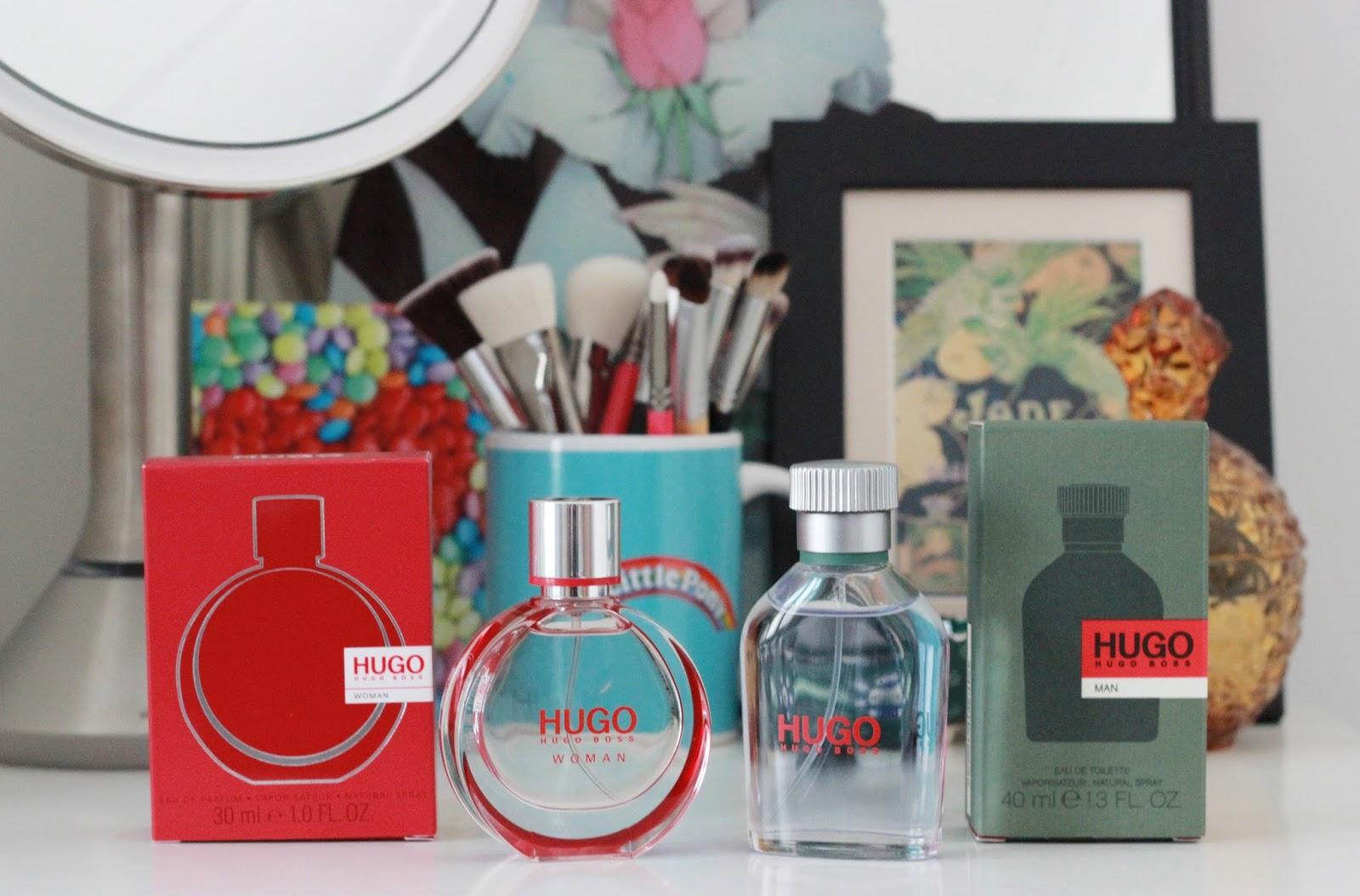 Hugo Boss Woman and Hugo Boss Man fragrances