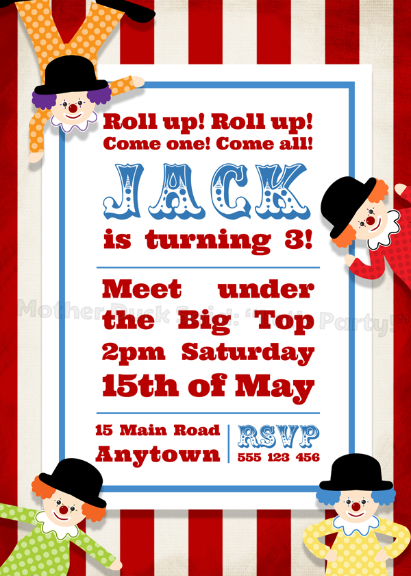 mother duck said lets party circus party invitations and printables