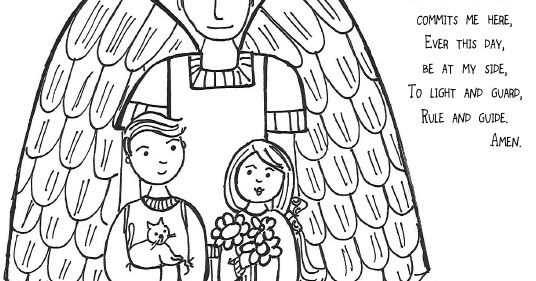 coloring pages of guardian angels - photo#9