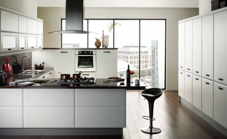 Cabinets for kitchen modern white kitchen cabinets for Modern black and white kitchen designs