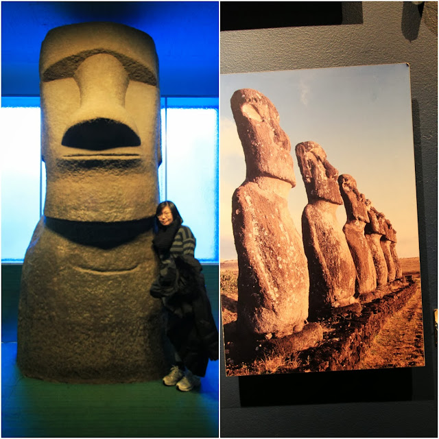 Gum Gum (Easter Island Head) famously known in the movie, Night at the Museum at Museum Natural History in New York City, USA