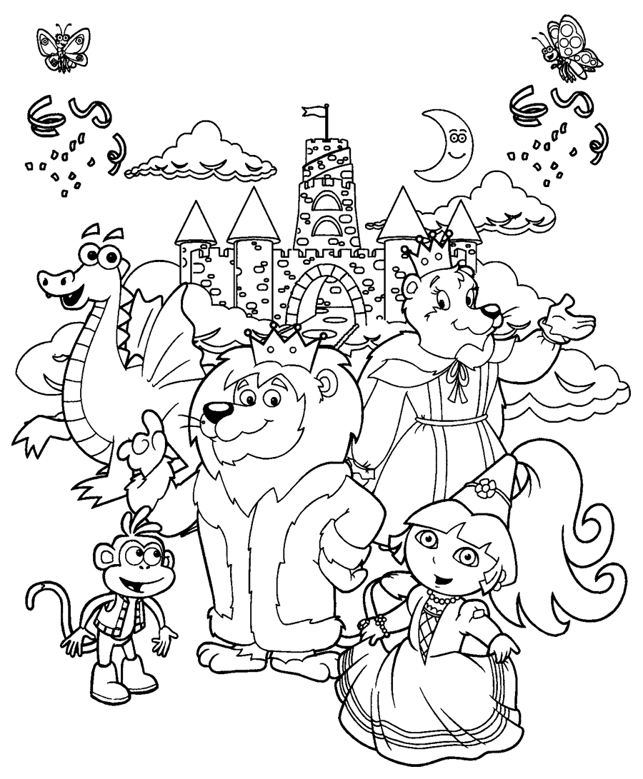 castle coloring page free coloring pages printables for kids