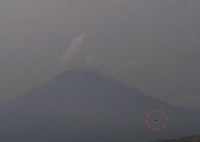 Dark UFO Caught At Volcano Popocatepetl Mexico, UFO Sightings