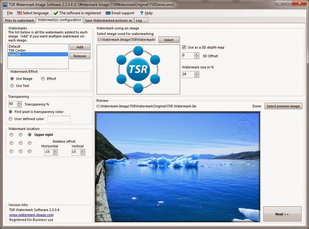 برنامج اضافة علامة مائية على الصور TSR Watermark Image 3.6.0.1