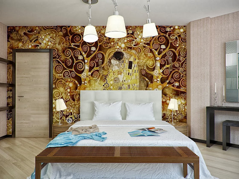 Gold and White Bedroom Idea