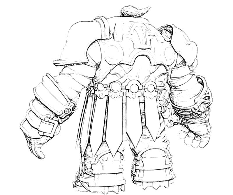 Printable Darksiders II Old One Coloring Pages title=