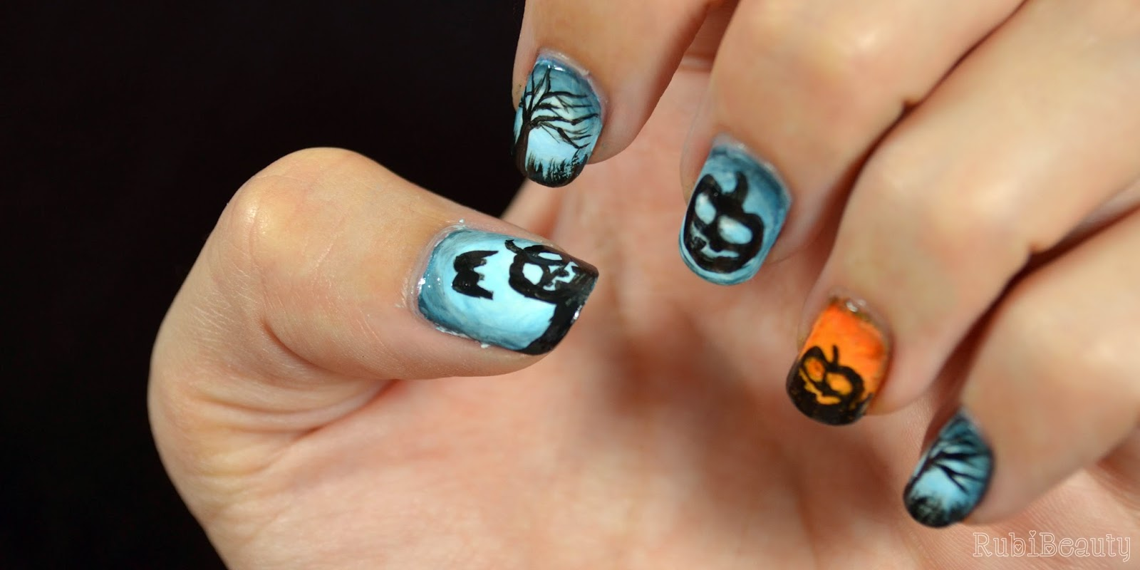 Rubibeauty nail art nailart halloween 2014 pumpkins