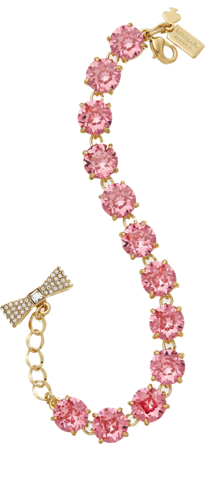 kate spade new york Gold-Tone Round Crystal Bracelet