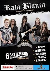 """RATA BLANCA EN EL """"ESTADIO SAN MARCOS"""" (PERÚ) - 06/09/2014"""