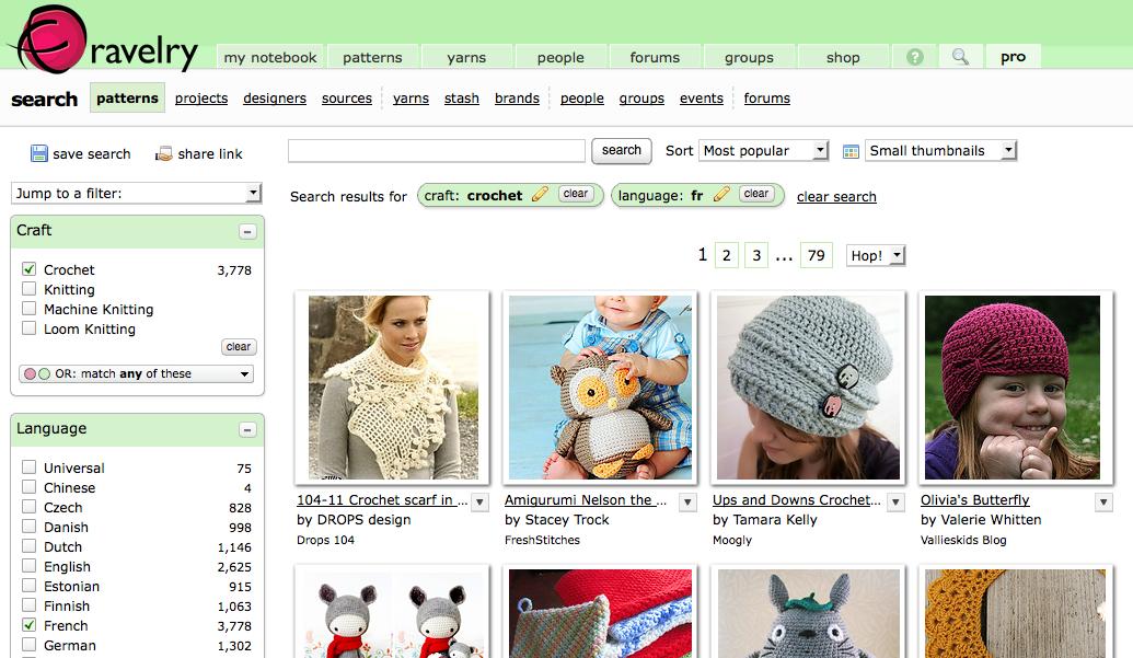 Patrons de crochet Ravelry