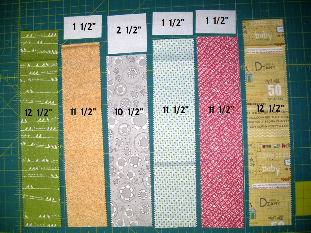 Lay The Solid Rectangles Onto Tops Of Print Strips And Sew A 1 4 Seam Along Edges Press