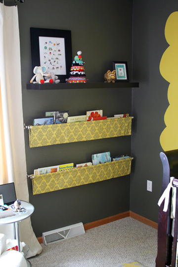 Polly Want A Crafter?: Hanging Fabric Book Shelves