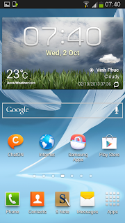 Samsung Galaxy Note 2 running Android 4.3
