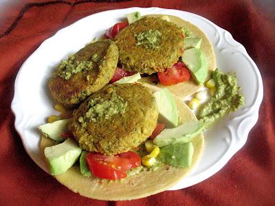 tacos with avocado and harissa and koftas