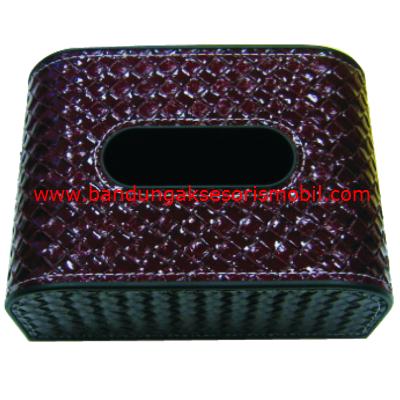 Box Tissue Anyaman Merah