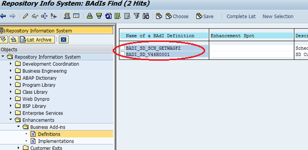 Find BADI in SAP