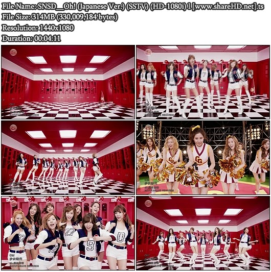 Download PV SNSD (Girls' Generation / 소녀시대) - Oh! (Japanese Version) (SSTV Full HD 1080i)