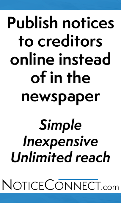 Estate law canada posting notices to creditors online rather than a new way to advertise for creditors and claimants spiritdancerdesigns Image collections