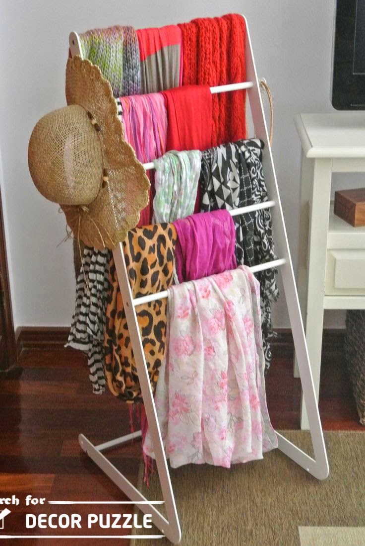 Creative Scarf Display And Storage Ideas Organizer Rack