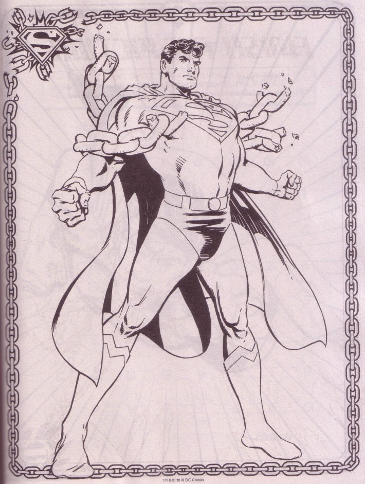 A Superman Pin Up From Jumbo Coloring And Activity Book