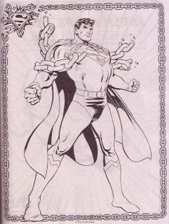 A Superman pin-up from Superman Jumbo Coloring And Activity Book