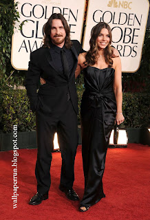 Christian Bale and Sibi Bale attend the 68th Annual Golden Globe Awards in Beverly Hills, CA on January 16, 2011