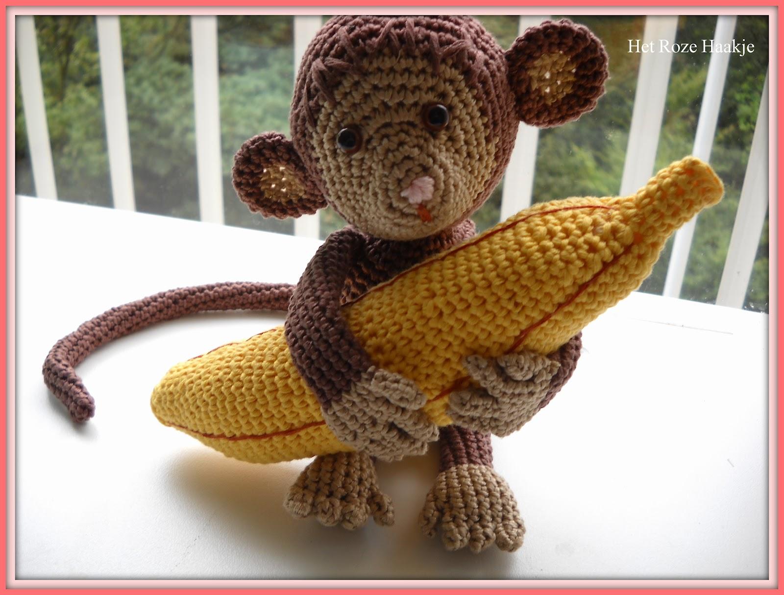 Planten En Haken Het Aapje Met De Banaan