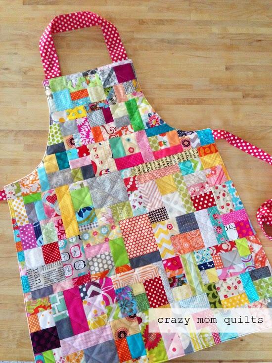 crazy mom quilts: scrap happy apron : crazy mom quilts - Adamdwight.com