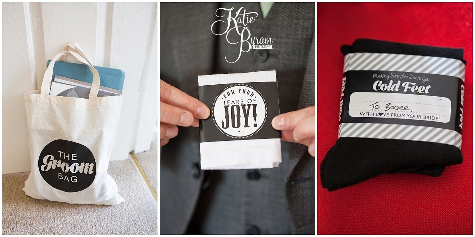 goodie bag for the groom
