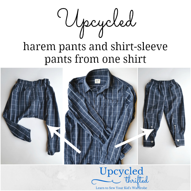 Upcycled: Two Pants From One Shirt - Heather Handmade