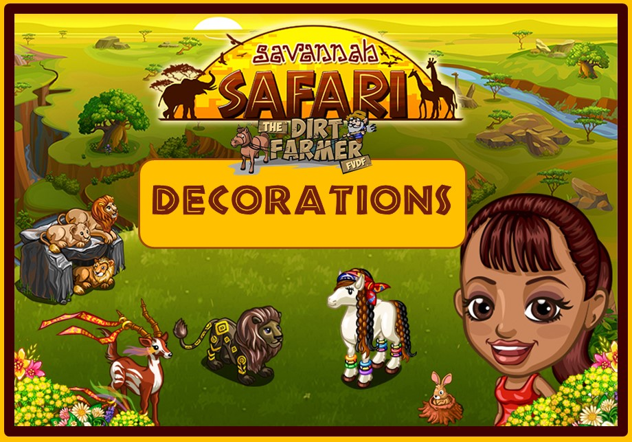 Farmville savannah safari farm decorations farmville for Farmville 2 decorations