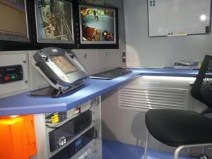 Control TV robot para localizar fugas