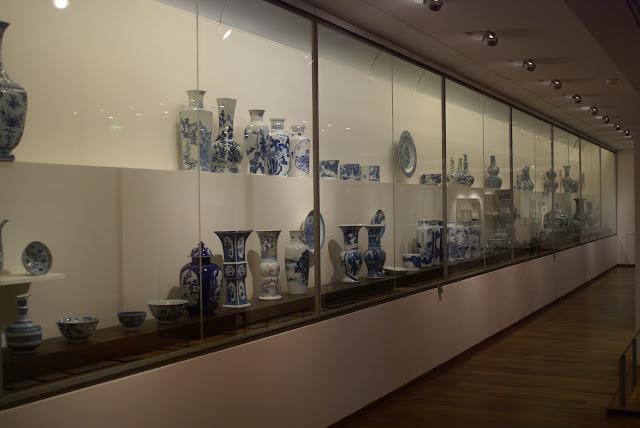 porcelaine blanc bleu