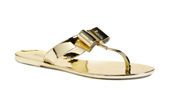michael kors kayden sandals gold bow sandal