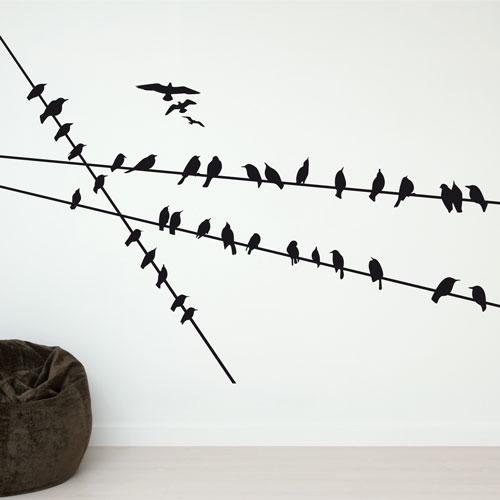 Bird wall decals home design ideas for Home designs com