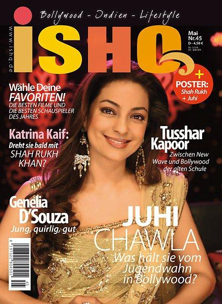 Juhi Chawla - Juhi Chawla on Ishq magazine Cover May 2011 Edition