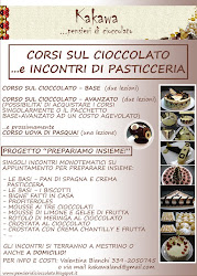 "CORSI SUL CIOCCOLATO E PROGETTO ""PREPARIAMO INSIEME!"""