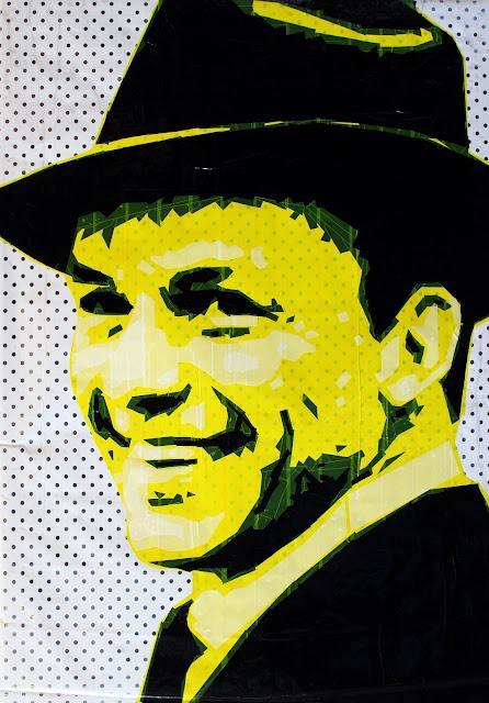 Frank Sinatra    art   artist Sonya   Bronya Benigeler israeli contemporary modern street painting