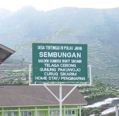 Desa tertinggi di pulau jawa, Desa Sembungan, Dieng, Gunung Sikunir