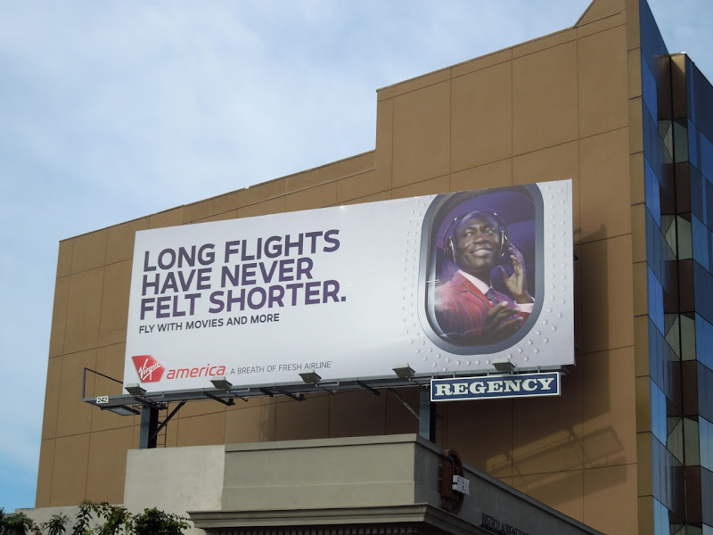 Virgin Long flights never felt shorter billboard