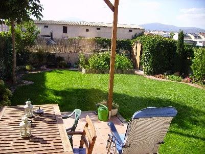 Jardín de mi casa en la sierra de madrid